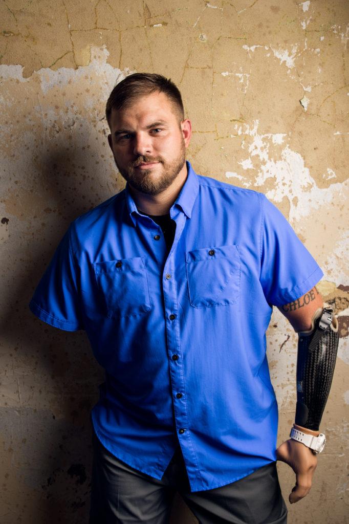 SSgt. Travis Mills, Portrait by Sean Berry